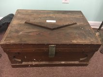 Antique wood tool box storage box in Beaufort, South Carolina