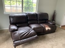 Leather Couch in Shorewood, Illinois