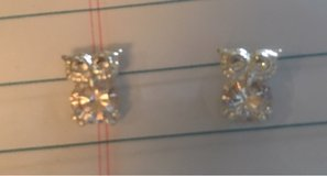 Rhinestone Owl Earrings in Plainfield, Illinois