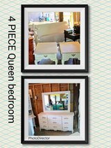 4 piece antique signed queen bedroom suite in Cherry Point, North Carolina