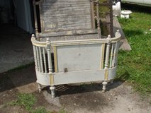 2 ANTIQUE SINGLE BED FRAMES-MATCHING in Camp Lejeune, North Carolina