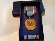 AIR FORCE VINTAGE MILITARY MEDAL WITH BAR FOR GOOD CONDUCT in Naperville, Illinois