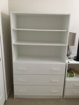 Techline three drawer dresser with shelves above in New Lenox, Illinois