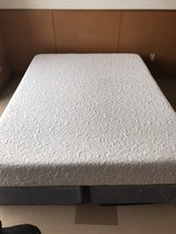 Queen size Memory foam mattress with box springs in Okinawa, Japan