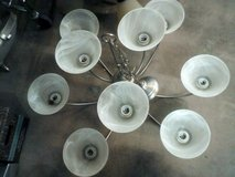 Ceiling light, brushed nickel, 9 light in Alamogordo, New Mexico