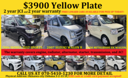 $3900 YELLOW PLATE KEI CARS COME WITH NEW JCI, 2 YR WARRANTY, AND 4 NEW TIRES!! in Okinawa, Japan