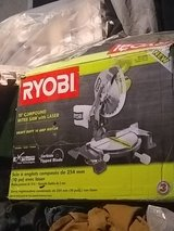 ryobi 10in. compound miter saw with laser in Beale AFB, California