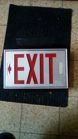 exit sign in Ramstein, Germany