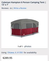6 person coleman tent in Shorewood, Illinois