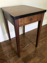 Wood end table in Naperville, Illinois