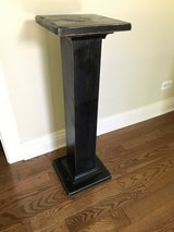 Wood plant stand in Naperville, Illinois