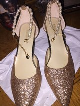 Golden Cinderella Shoes With Red Bottoms in Quantico, Virginia