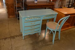 Painted  Teal Desk with chair in Fort Lewis, Washington