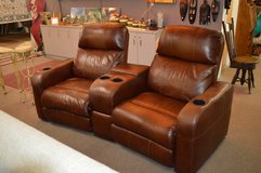 Power Reclining Theater Seats with cup holders  All leather in Fort Lewis, Washington