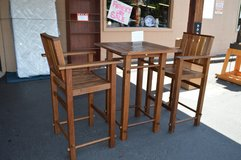 Pub Height Patio table & 2 Chairs in Fort Lewis, Washington