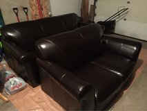 Leather Couch & Loveseat in Chicago, Illinois