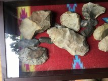 Nice display of stone lithic artifacts in DeRidder, Louisiana