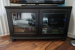 Expresso Wood and Glass T.V. Console in Camp Pendleton, California