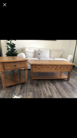 Solid Oak Coffee Table Set in Plainfield, Illinois