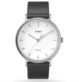 Mens Timex Fairfield 41mm Leather Strap Watch in Westmont, Illinois