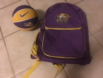LSU backpack & basketball in Leesville, Louisiana