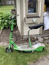 Green Razor motor scooter in Westmont, Illinois