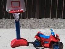 power wheels car and basket ball hoop in Alamogordo, New Mexico
