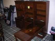 """a 3-piece conbination -L- shape office desk 3/4"""" with file cabinet, book shelving,compluter cabi... in Naperville, Illinois"""