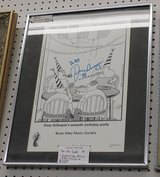 Far Side Cartoon, Autographed by Dizzy Gillespie in Westmont, Illinois