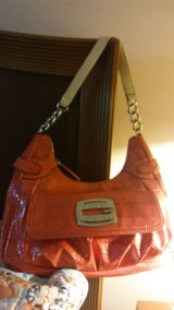 Coral Guess Patent Leather Handbag in Shorewood, Illinois