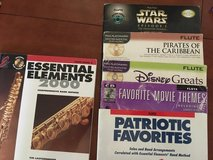 Assorted Flute music books.  Used  Some with CD in Vista, California