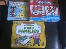 Word family and spelling games in Kingwood, Texas
