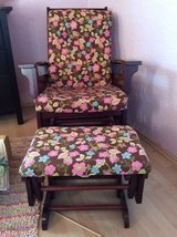 Rocking chair glider with ottoman in Ramstein, Germany