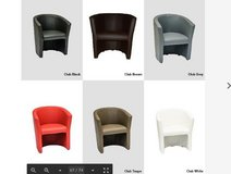 United Furniture - Club Chairs - White-Brown-Taupe-Red-Gray-Black in Ansbach, Germany
