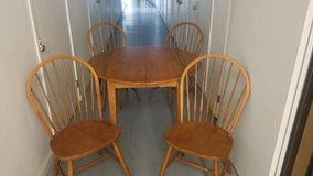Ethan Allen wood dining table with 4 chairs in Camp Pendleton, California