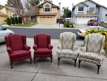 Wing back chairs in Travis AFB, California