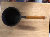 6.5 Cast Iron Pot With Wood Handle Needs Cleaning in Fort Knox, Kentucky