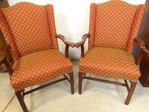 Red & Gold Upholstered Chairs in Pearland, Texas