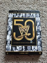 WWE 50 Year History DVDs in Camp Lejeune, North Carolina