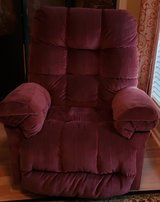 Red Rocker Recliner Excellent Condition Smoke Free Home in Warner Robins, Georgia