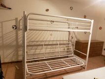 Twin over futon metal bunk bed in Chicago, Illinois