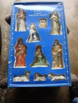 HOLIDAY TIME 10 PC. PROCELAN NATIVITY FIGURINES in Bartlett, Illinois