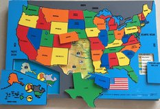 USA Map Wooden Puzzle in Okinawa, Japan