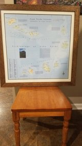 Framed Cape Verde Island Map in Chicago, Illinois