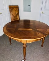 Elegant Wooden Dining Table w/Inlay in Cherry Point, North Carolina