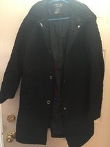 Women's black coat with hood in Yorkville, Illinois