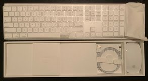 APPLE MAGIC KEYBOARD WIRELESS WITH NUMERIC KEYPAD MQ052LL/A SILVER & Magic Mouse 2 in Stuttgart, GE