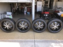4 20 inch universal tires with rims in Naperville, Illinois