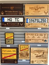 Licenseplaques & Townboardplaques & Going Away Plaques including engraving in Ramstein, Germany