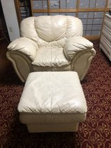 Leather chair and ottoman in Okinawa, Japan